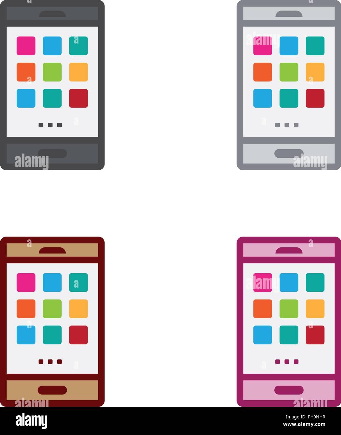 Applications Smartphone Photo Stock