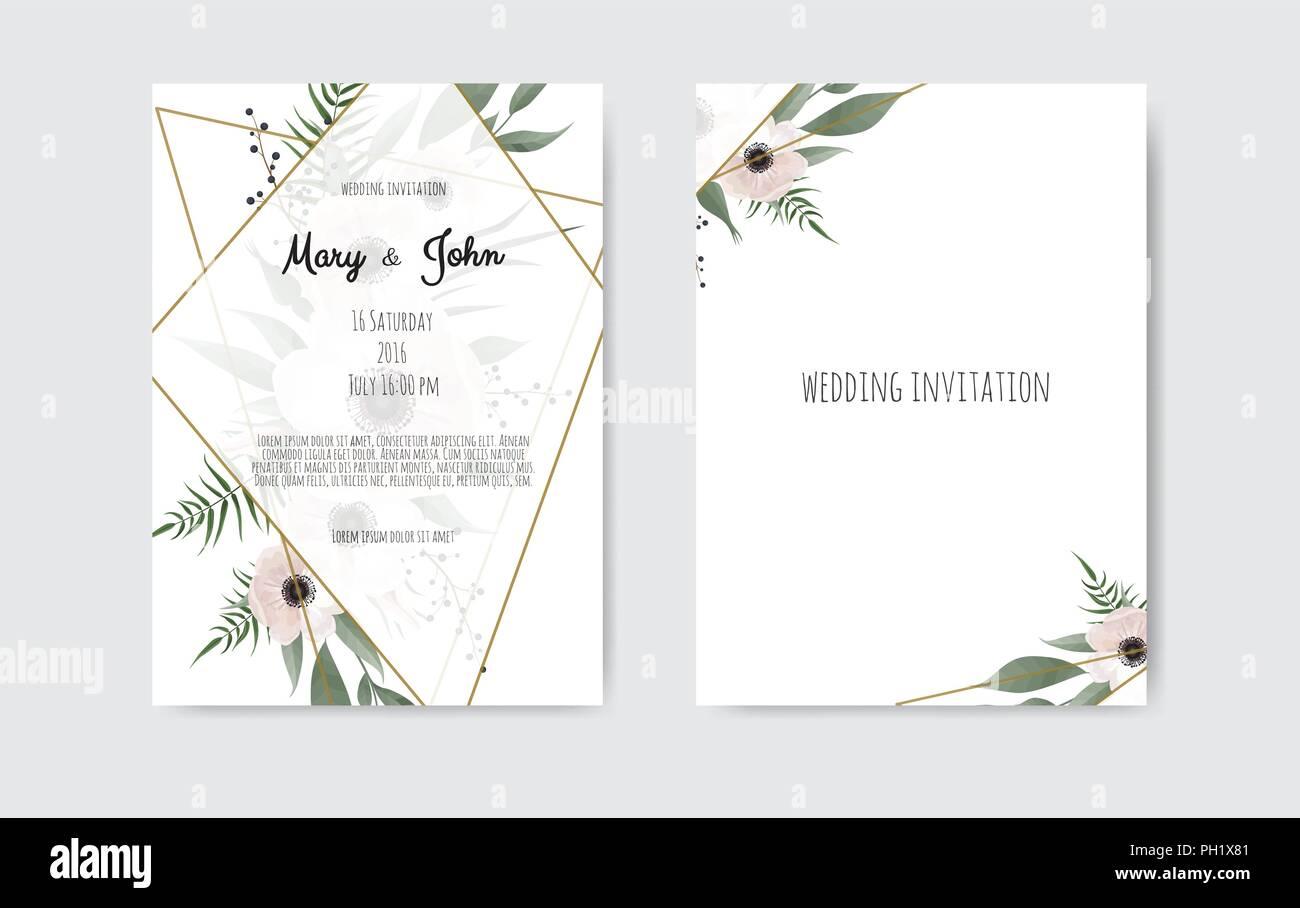 Inviter Mariage Invitation Carte Dinvitation De Botanique