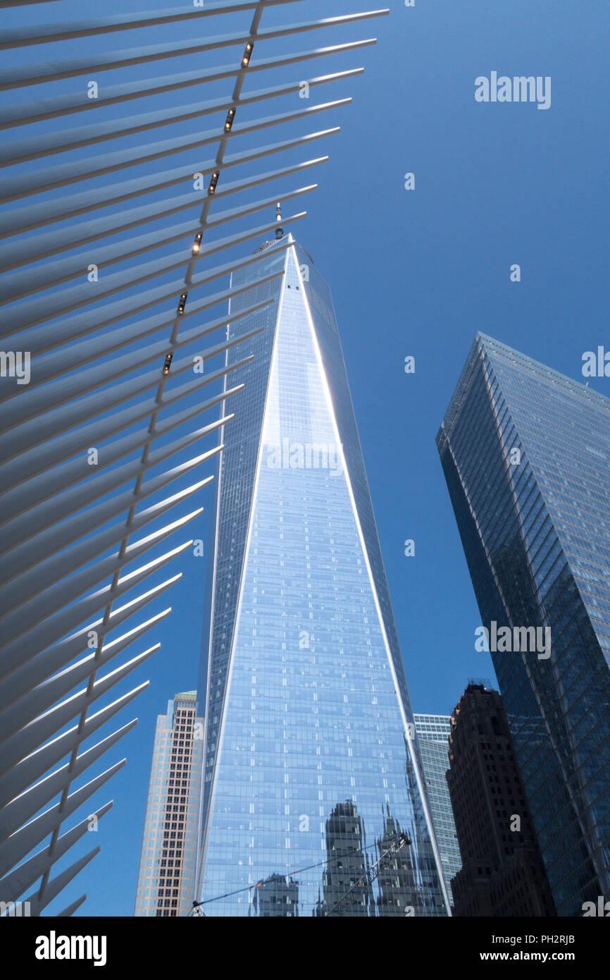 World Trade Center dans le Lower Manhattan, NYC, USA Photo Stock