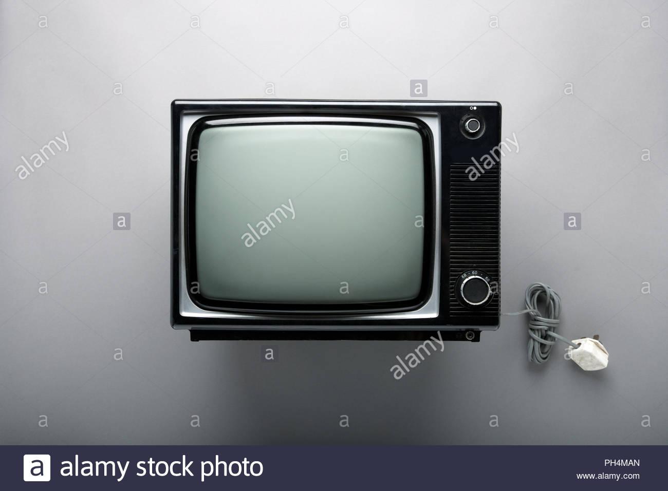 Vieux téléviseur Photo Stock