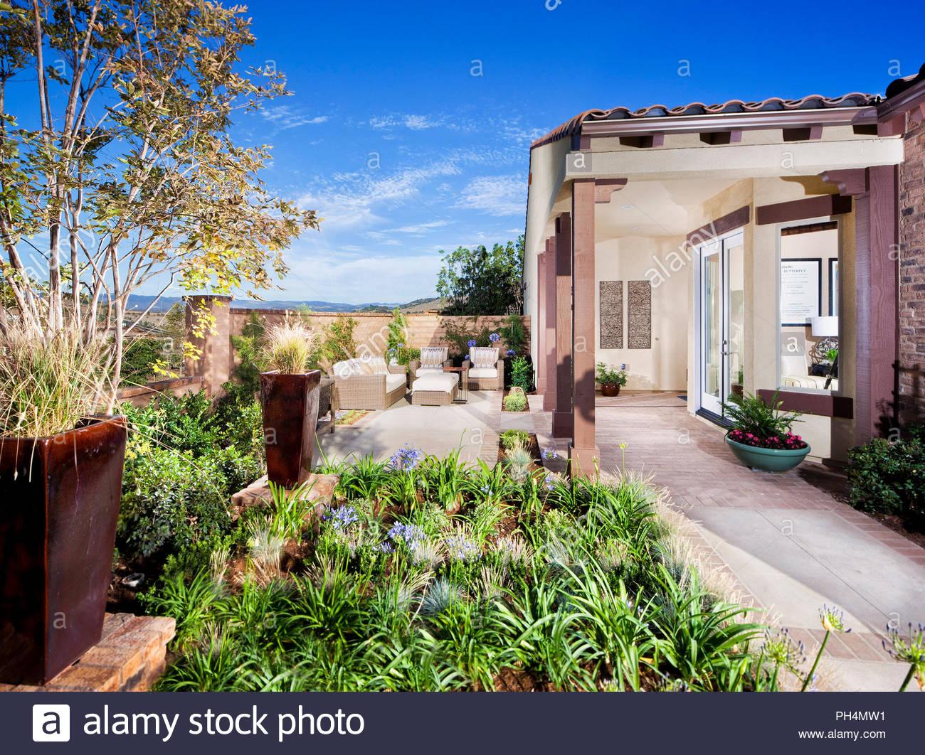 Patio jardin Photo Stock