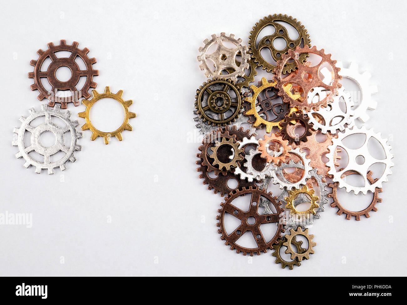 Différentes tailles et vitesses de couleur sur fond blanc Photo Stock