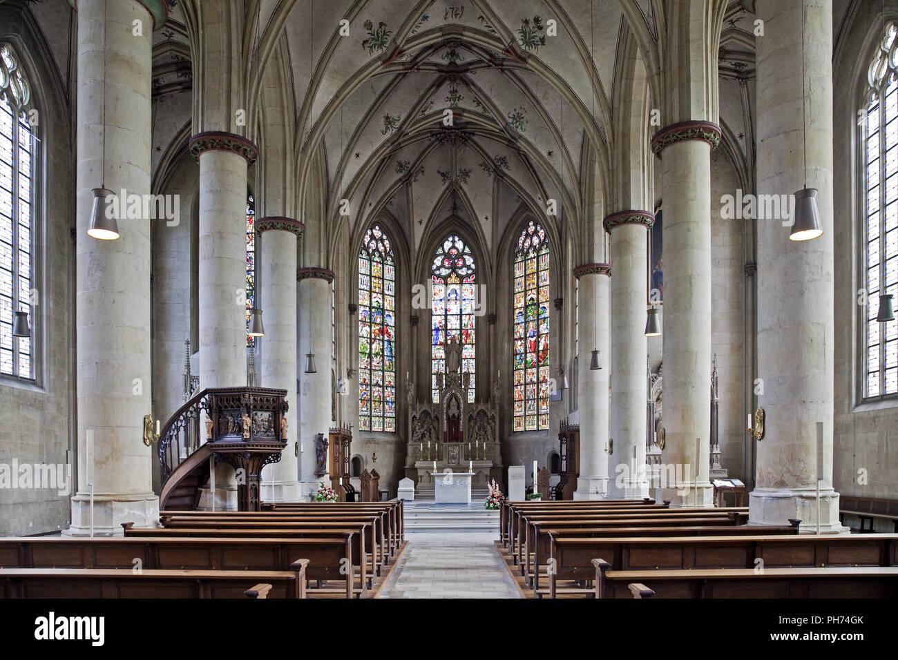 Intérieur, de l'église paroissiale, Magdeburg, Allemagne Photo Stock