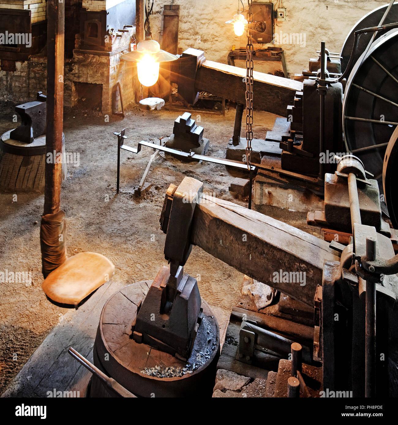 Marteau de zinc laminoir, musée en plein air de Hagen Photo Stock
