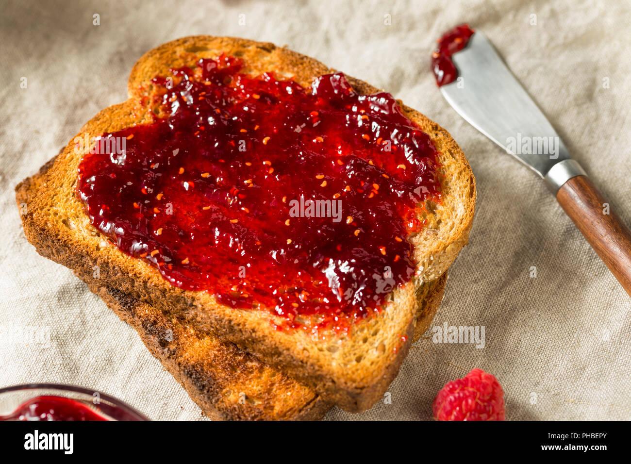 Confiture de framboises Maison saine Préserver prêt à manger Photo Stock