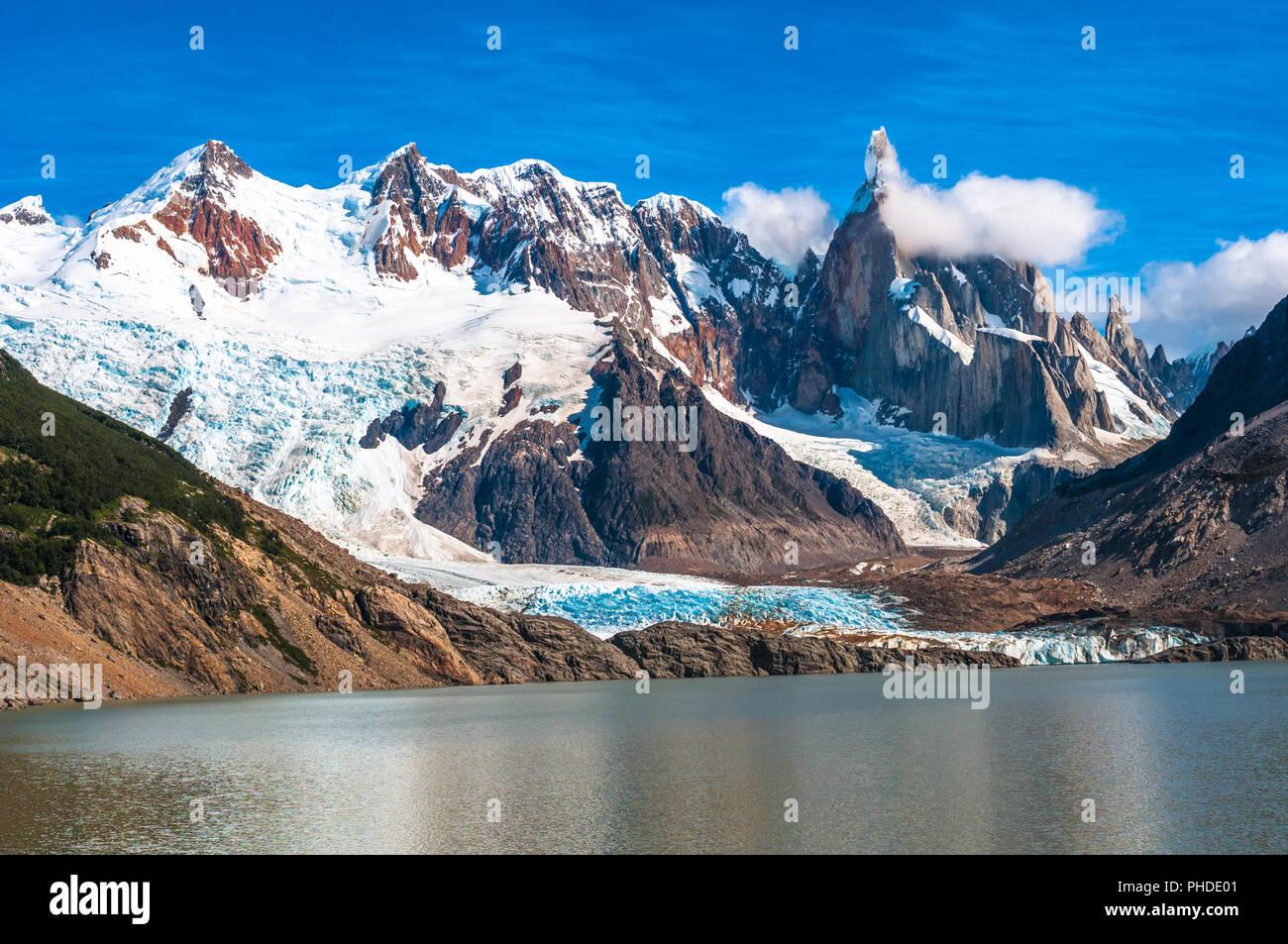 La montagne du Cerro Torre, en Patagonie, Argentine Photo Stock