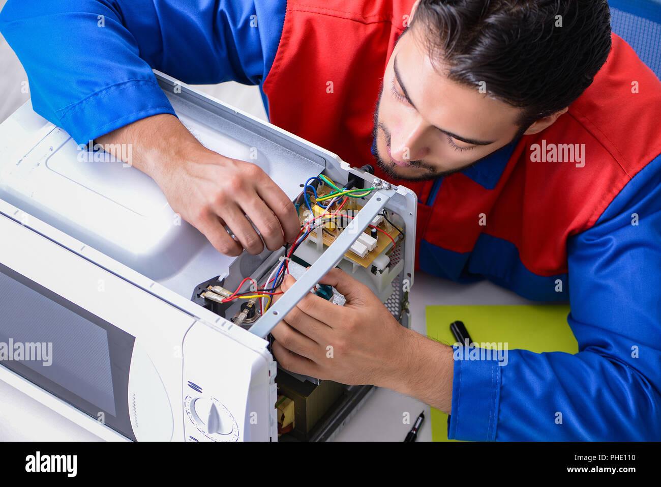 Fixation Pour Micro Onde réparateur réparation et fixation jeunes four micro-ondes