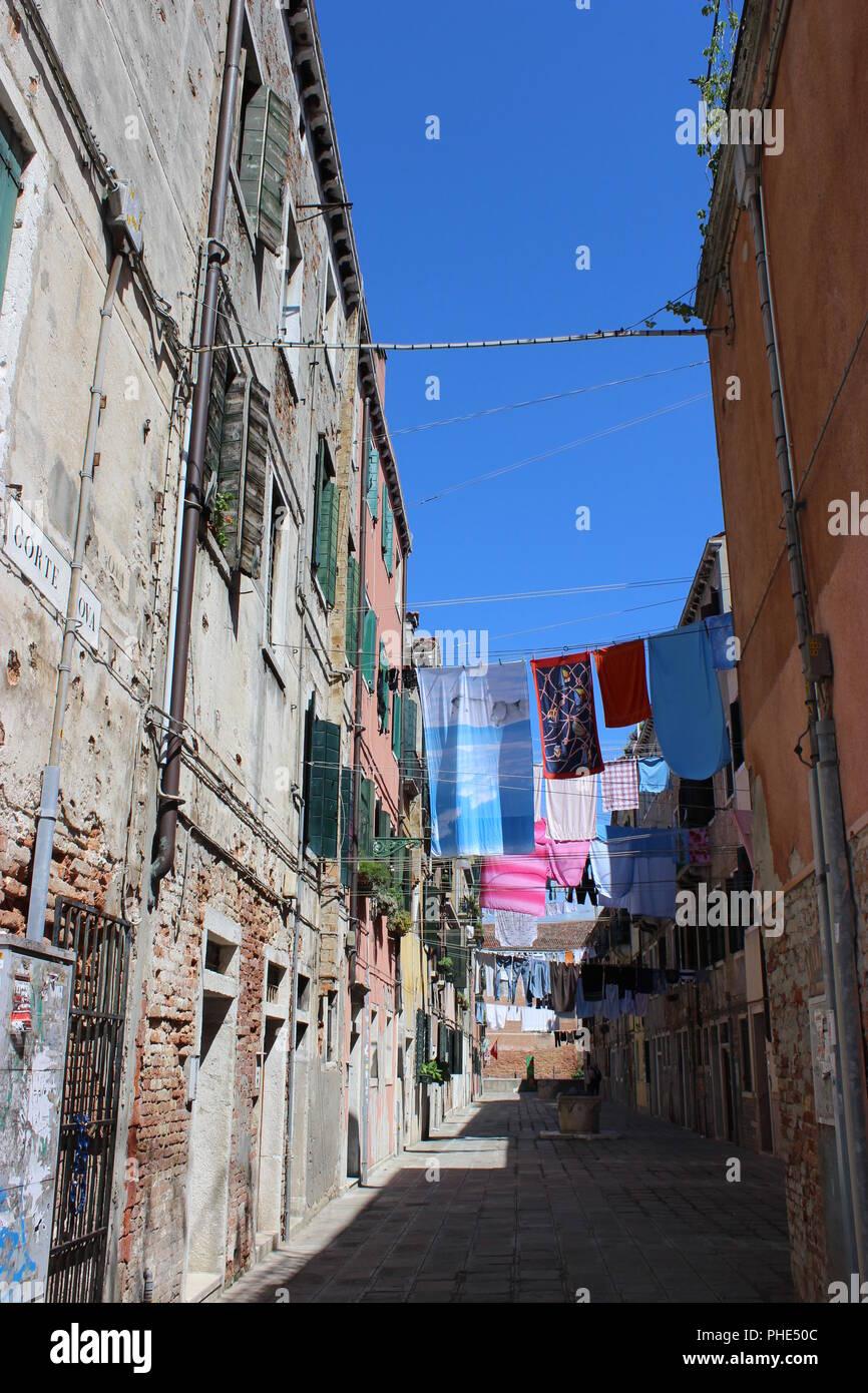 Jour de lessive à Venise Photo Stock