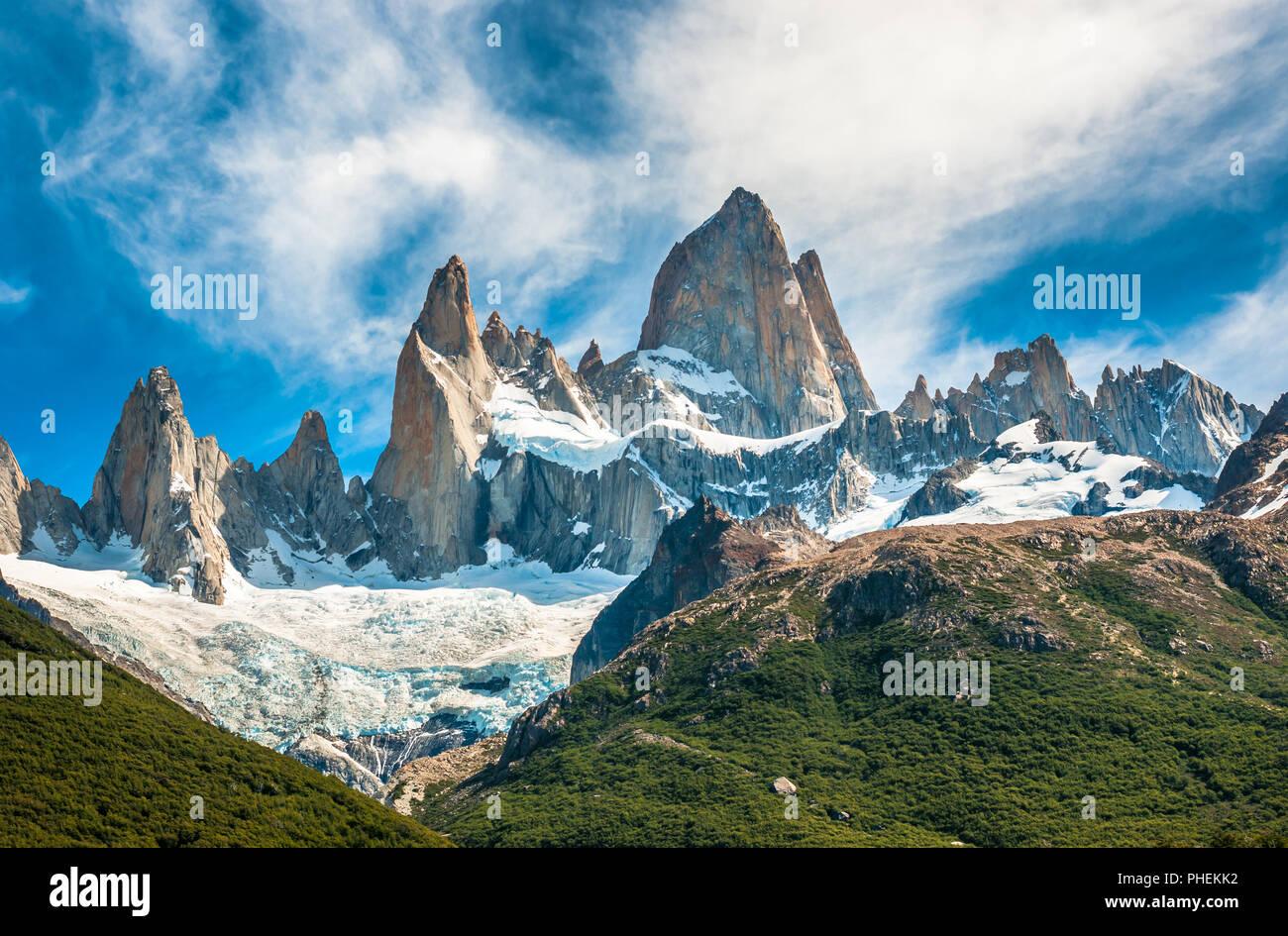 Fitz Roy, la montagne El Chalten, Patagonie, Argentine Photo Stock