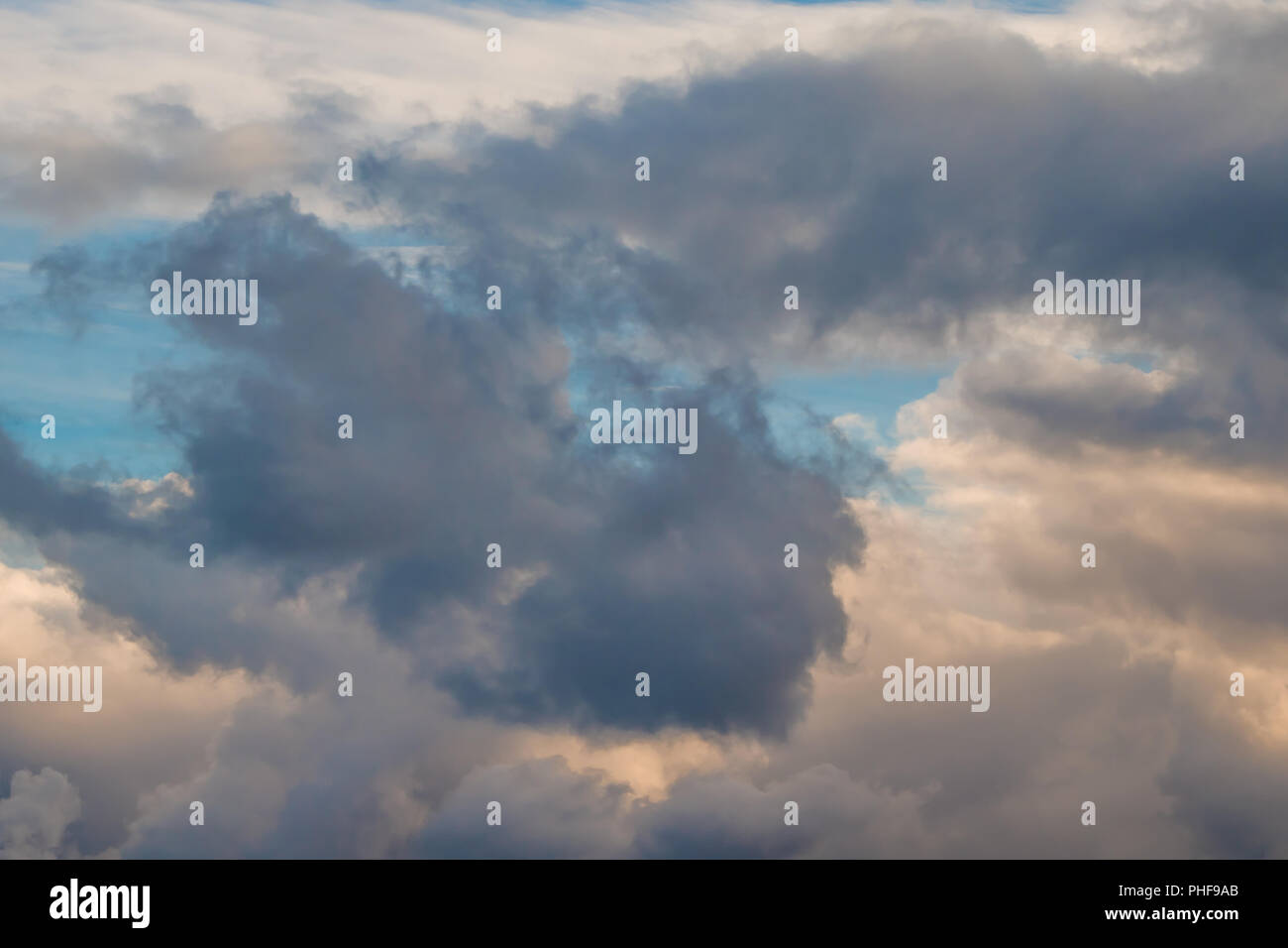 La formation de nuages sombres Photo Stock