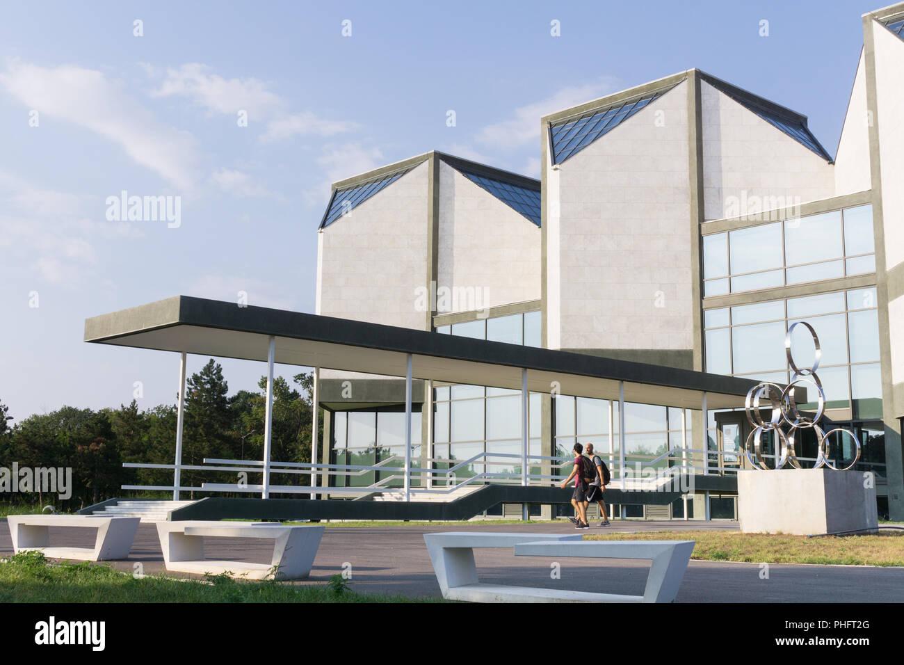 Extérieur de la musée d\'Art Contemporain de Belgrade, Serbie Banque ...