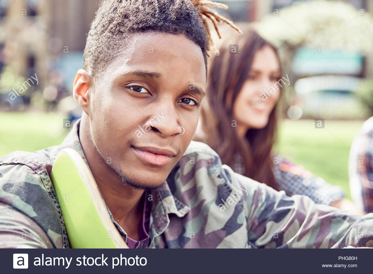 Portrait of teenage boy Photo Stock