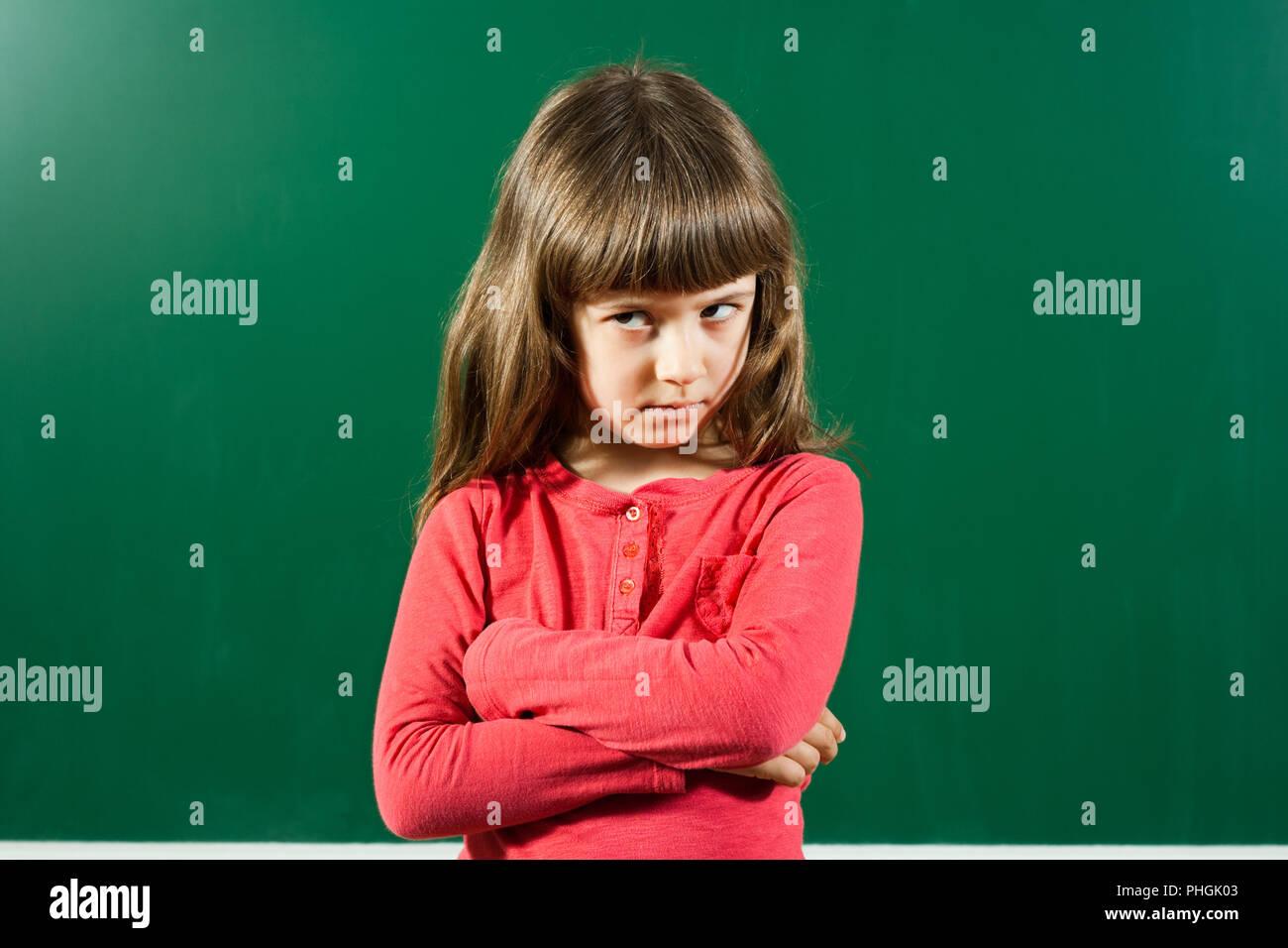 Petite fille en colère Banque D'Images