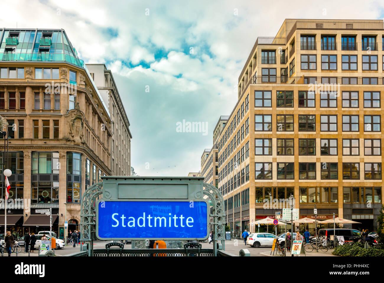 L'immobilier à berlin city Banque D'Images