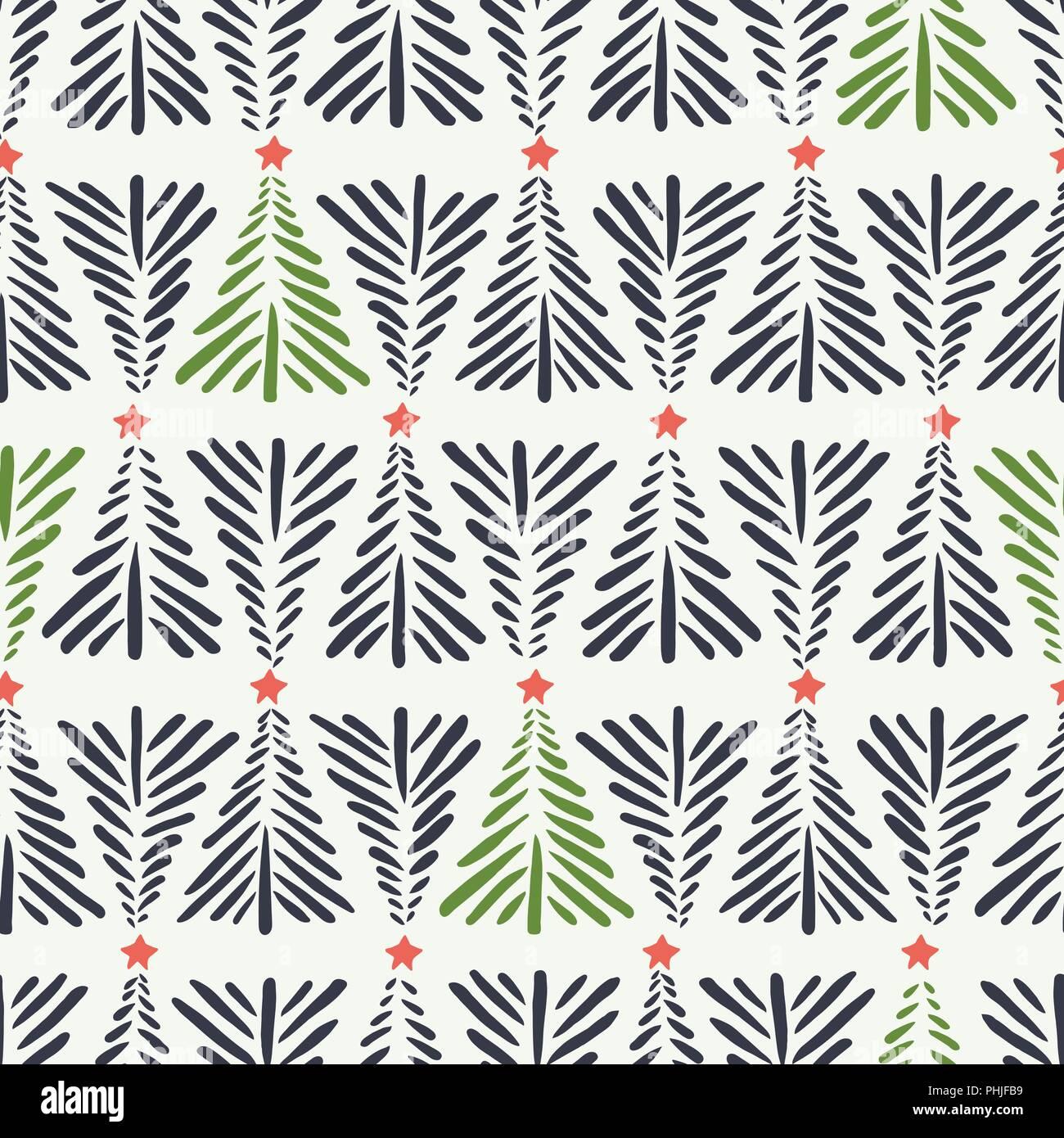 Hand Drawn Abstract Les Arbres De Noel Des Etoiles Rouges Sur Fond Blanc Transparent Vecteur Modele Maison De Vacances D Hiver Nordique Scandinave Imprimer Abstract Stripes Image Vectorielle Stock Alamy