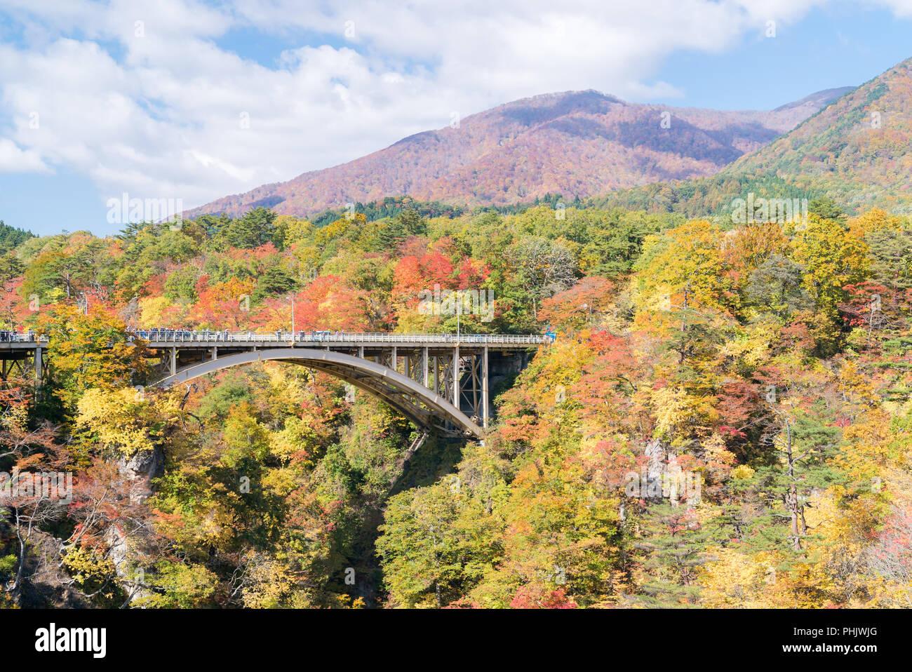 Le Japon Tohoku Miyagi Gorges Naruko Photo Stock