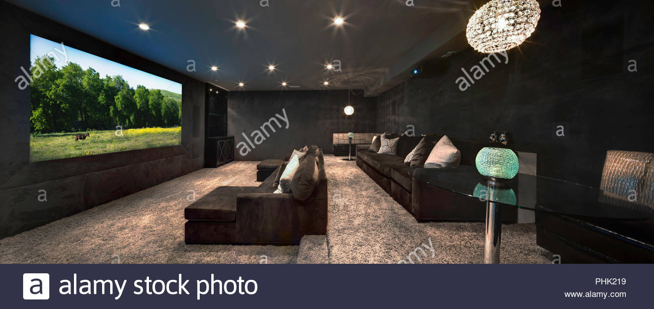 Home Theatre Photo Stock