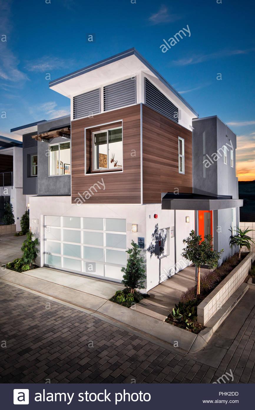 Extérieur de maison moderne Photo Stock