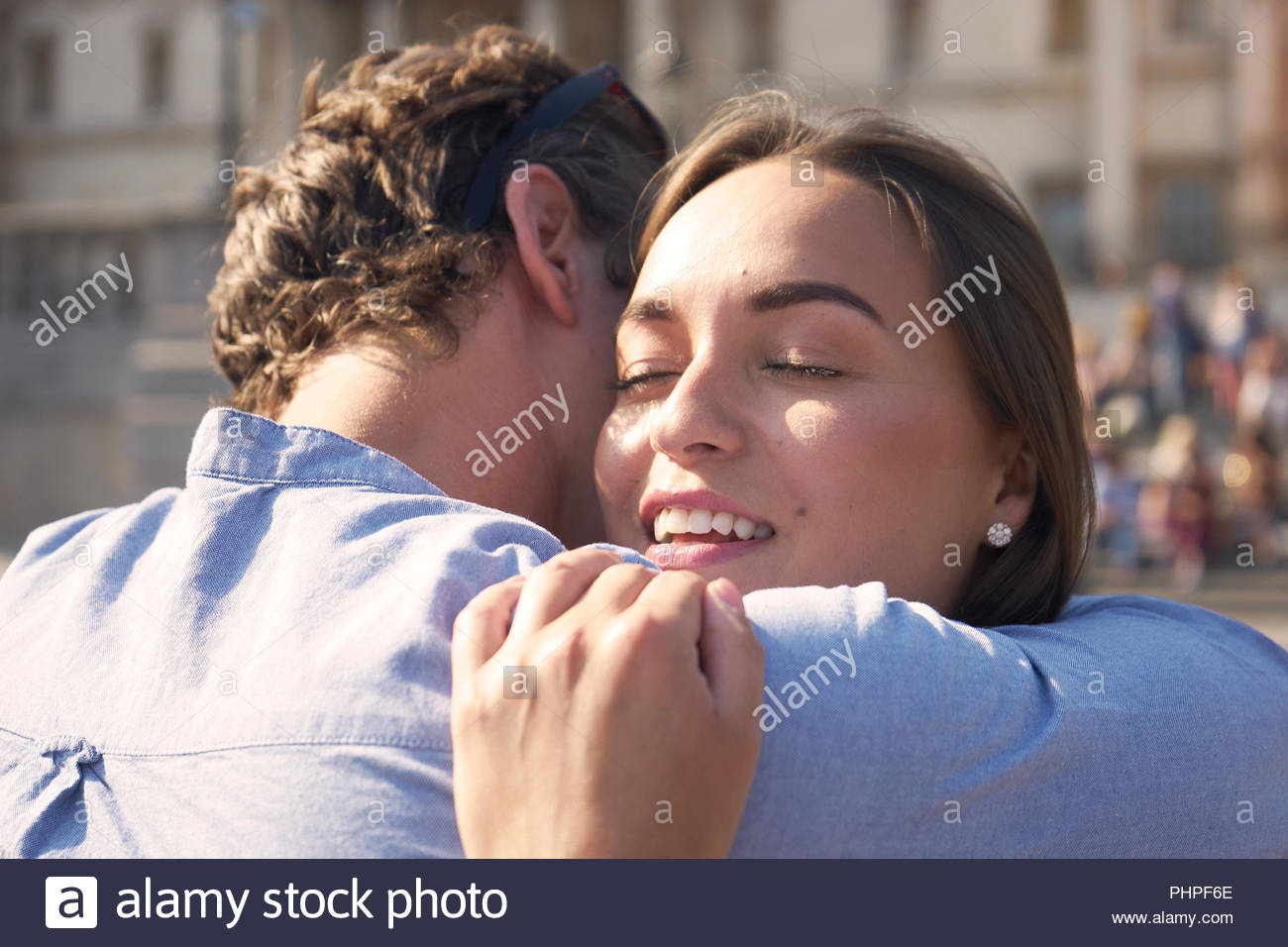 Couple embracing Photo Stock