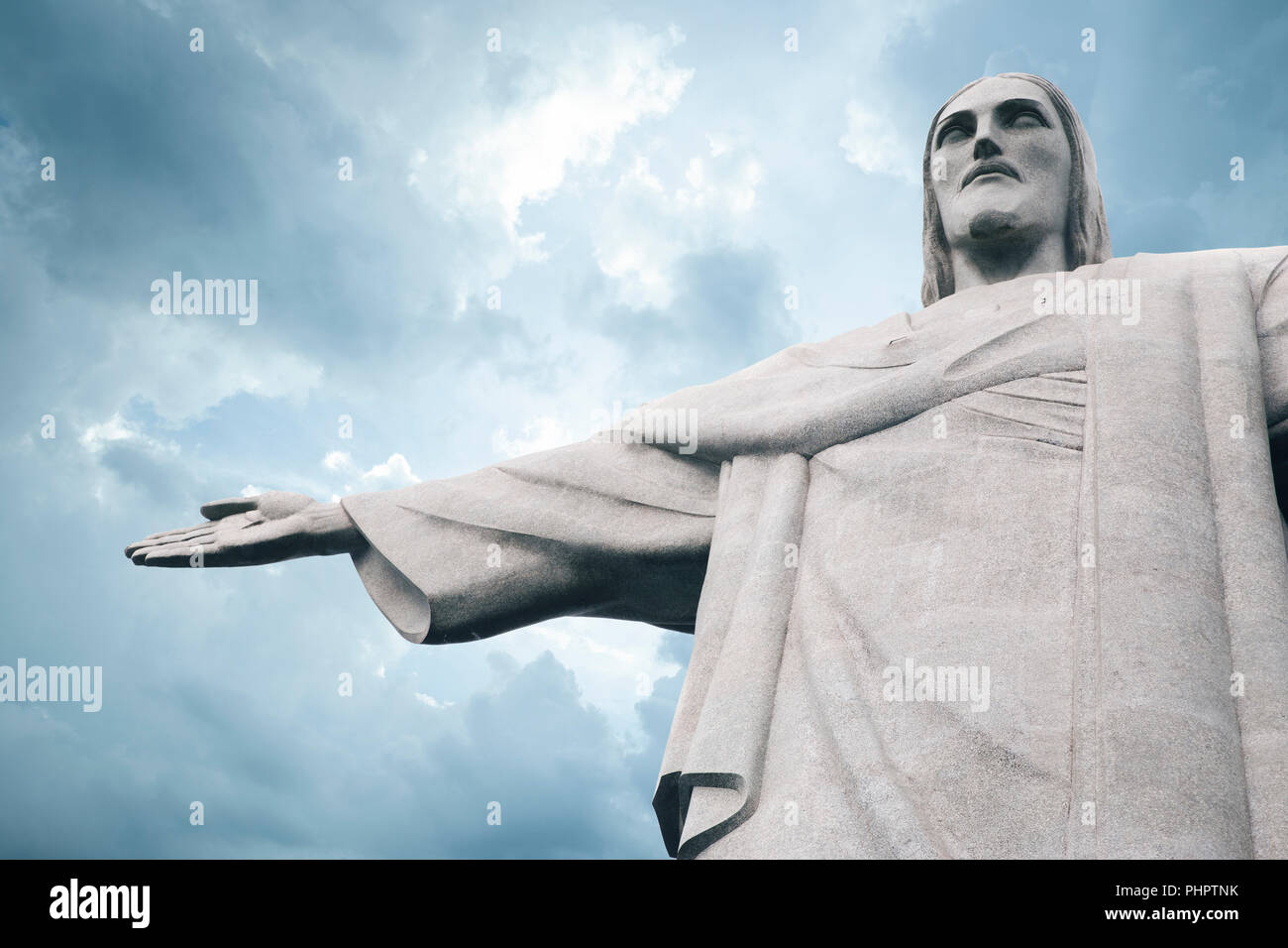 Le Christ Rédempteur (Cristo Redentor) statue à Rio de Janeiro, Brésil Photo Stock