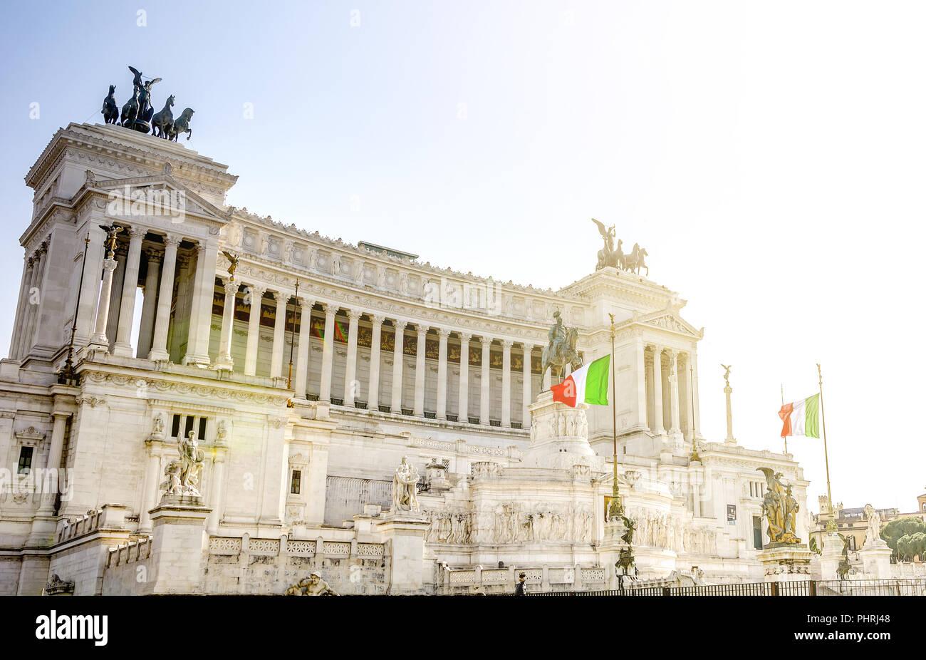 Le Vittoriano monument national italien à Rome Photo Stock