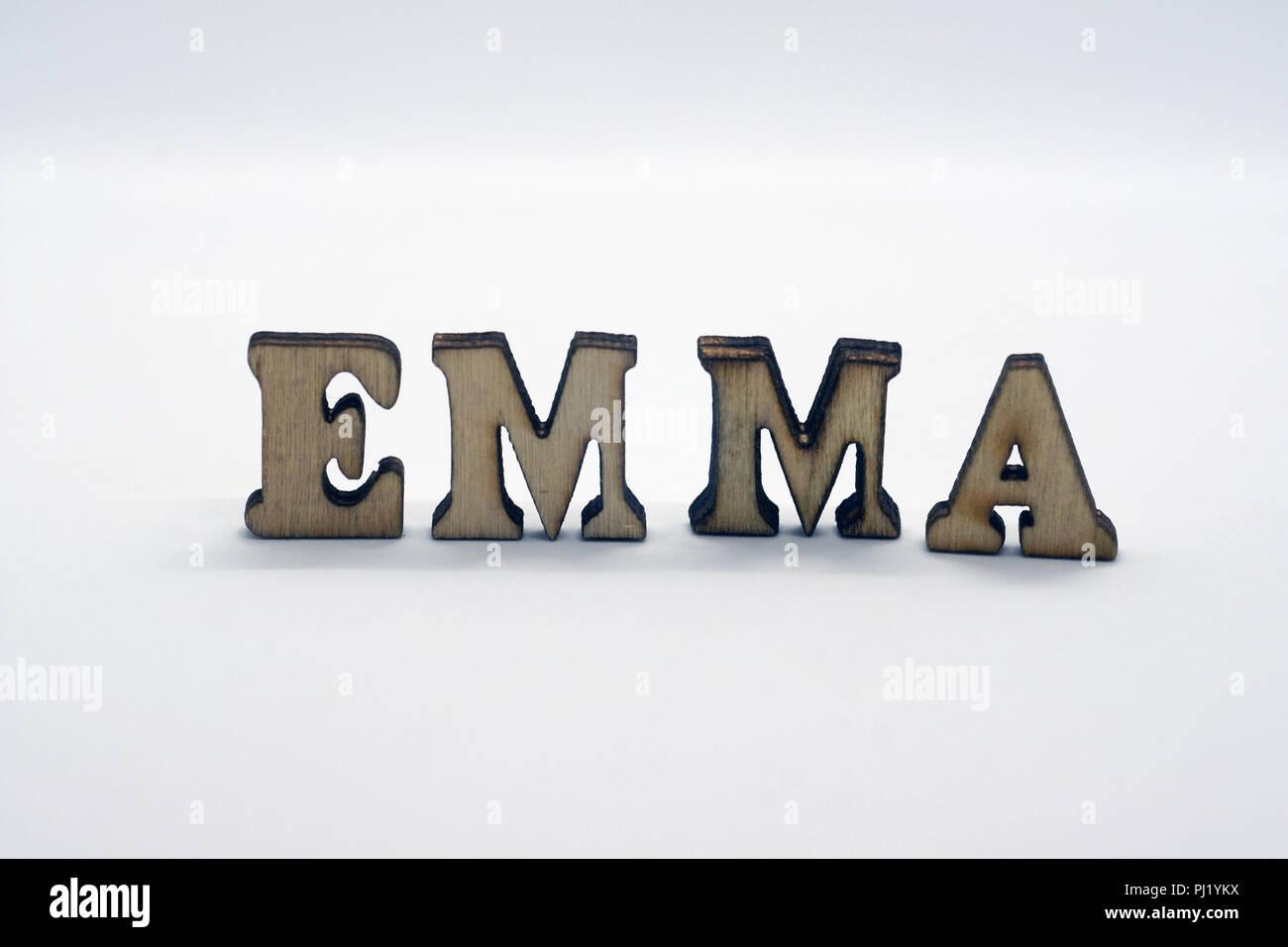 Prénom féminin emma Photo Stock