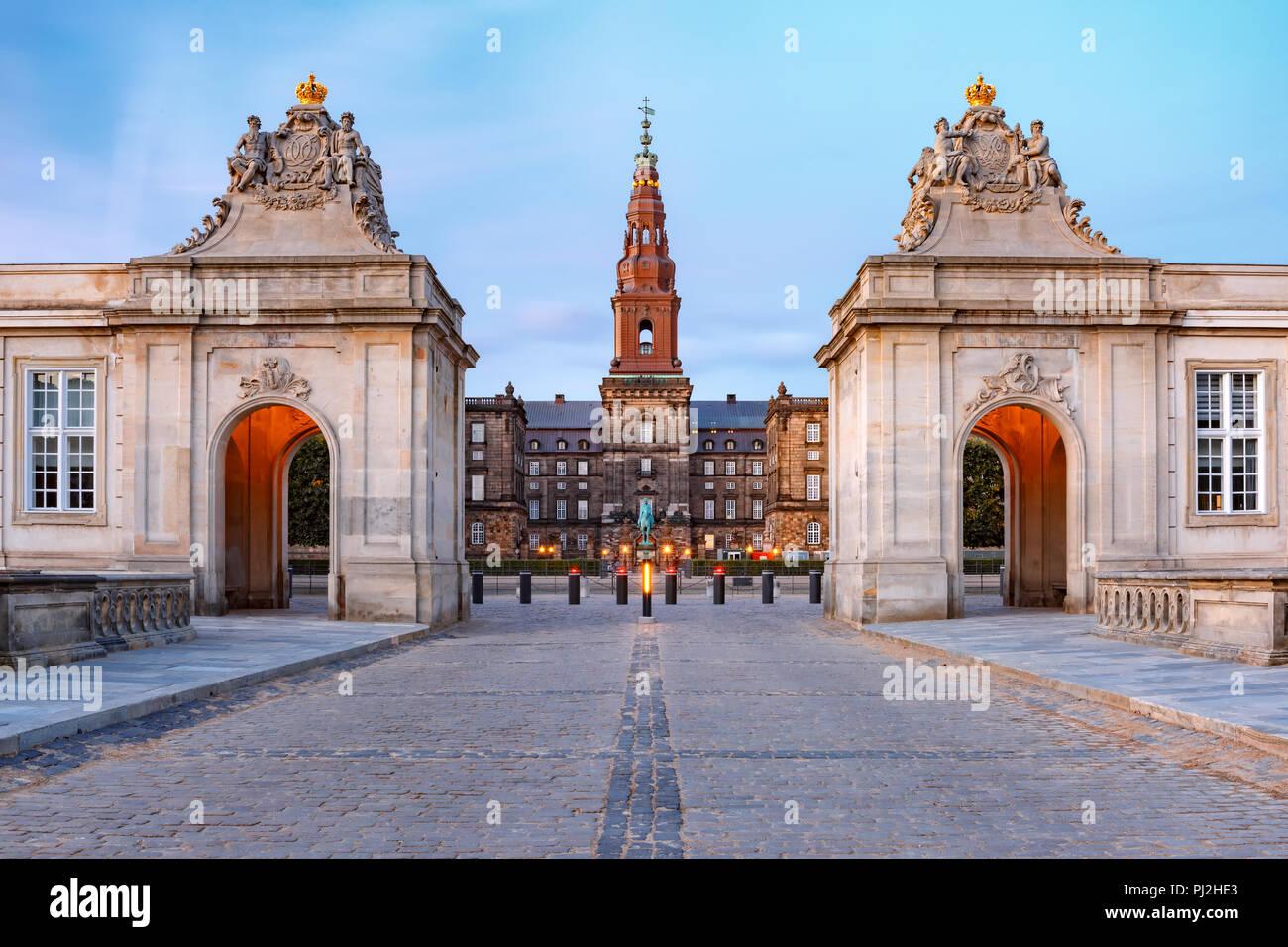 Palais de Christiansborg à Copenhague, Danemark Banque D'Images