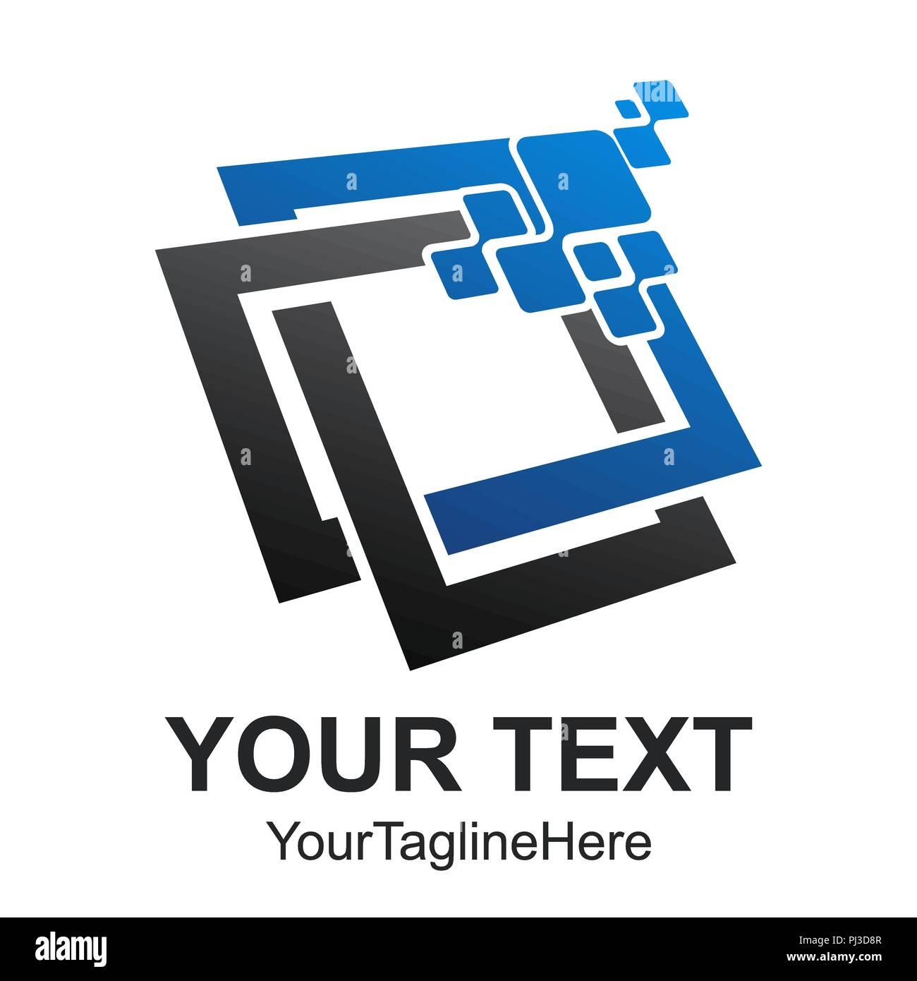 Données Résumé vecteur conception logo tech illustrator  Les