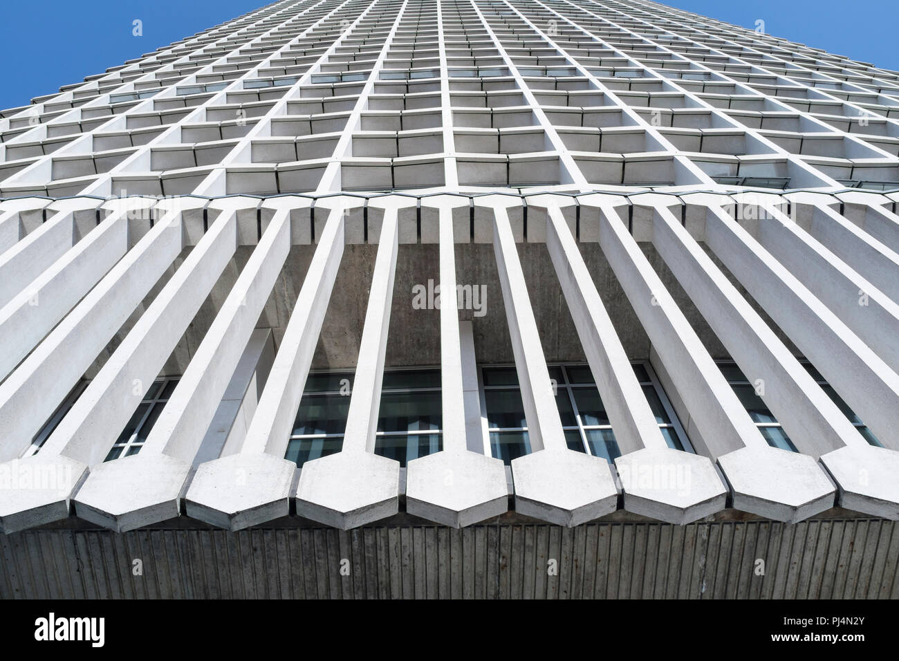 Abstrait Architecture, bâtiment Centre Point, London, UK Photo Stock