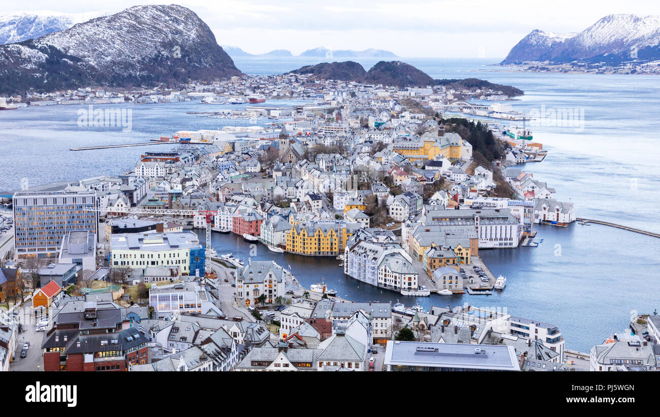 Ålesund, Norvège Photo Stock