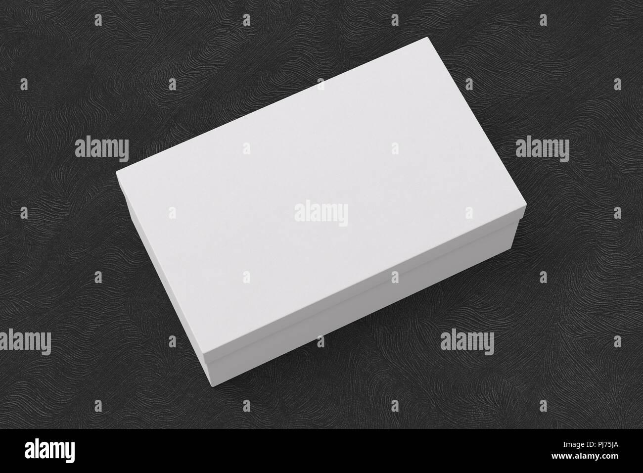 Boîte fond à conteneur sur noirMaquette blanc chaussures Pk8nOw0
