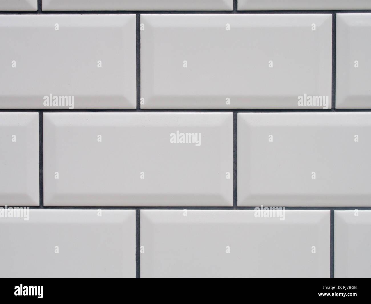 Carrelage Blanc Joint Noir carreaux blanc noir avec texture joints banque d'images