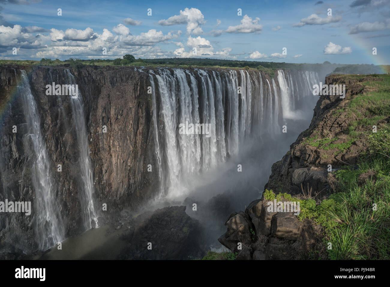 Les chutes sans fin, Victoria Falls, Zimbabwe Photo Stock