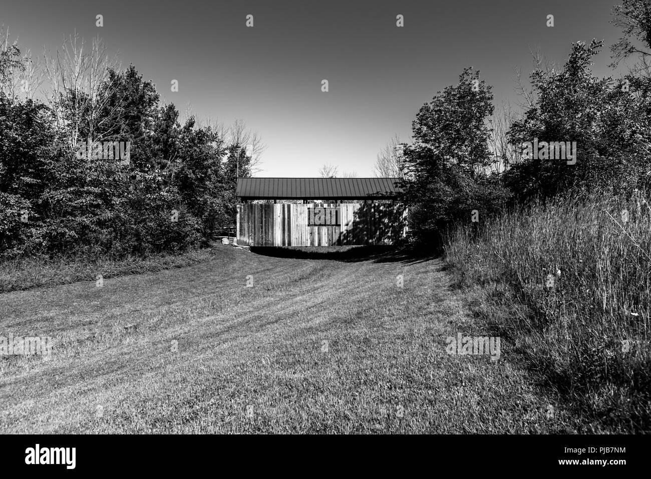 Pont couvert de Blackburn Banque D'Images