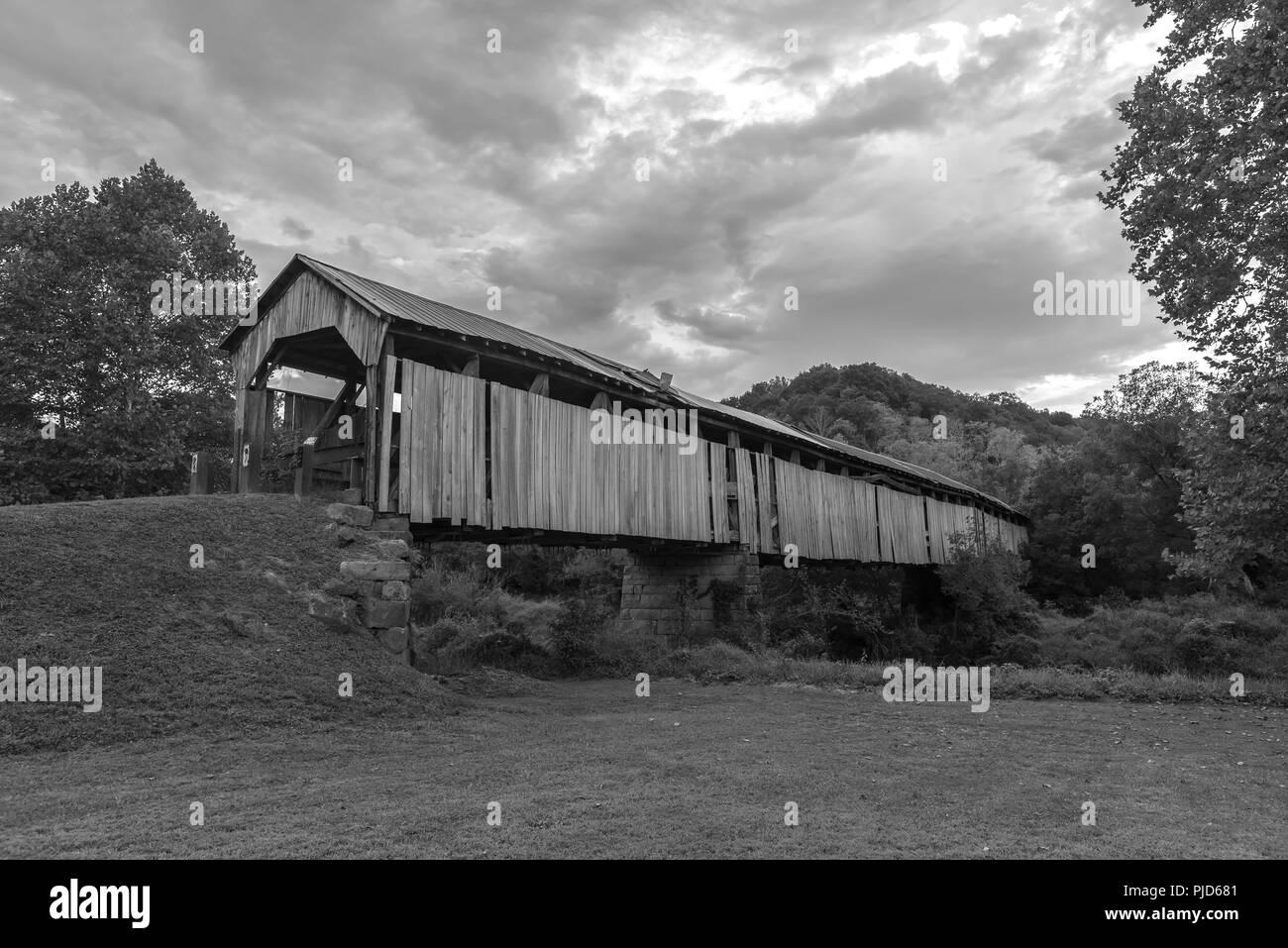 Pont couvert de Knowlton Banque D'Images