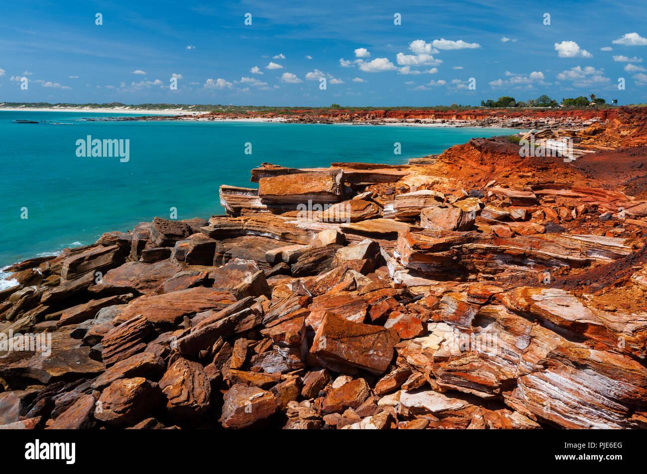 Les roches colorées à Gantheaume Point à Broome. Banque D'Images