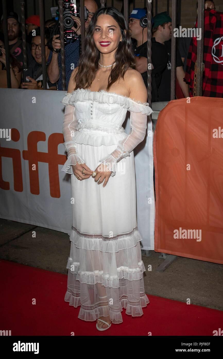 Olivia Munn assiste à la première de 'l' au cours de la 43e Festival International du Film de Toronto, tiff, à Ryerson Theatre de Toronto, Canada, le 06 septembre 2018. Dans le monde d'utilisation | Banque D'Images