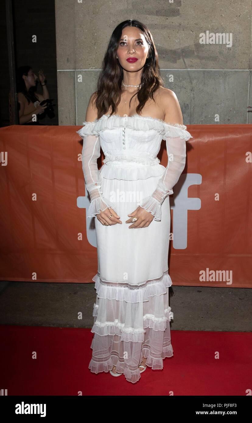 Olivia Munn assiste à la première de 'l' au cours de la 43e Festival International du Film de Toronto, tiff, à Ryerson Theatre de Toronto, Canada, le 06 septembre 2018. Dans le monde d'utilisation   Banque D'Images