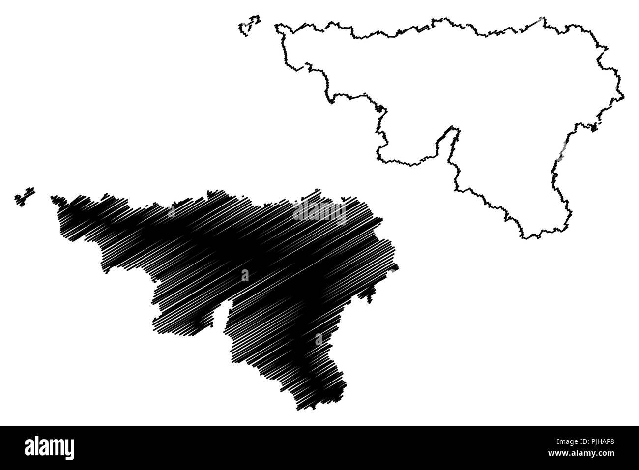 Carte Belgique Communautes Et Regions.Carte De La Wallonie Photos Carte De La Wallonie Images Alamy