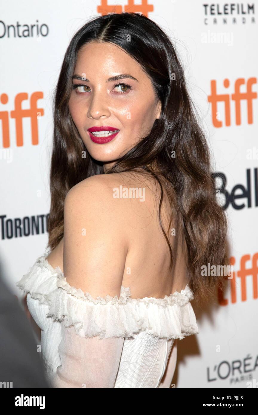 Olivia Munn assistant à la première de 'l' au cours de la 2018 Festival International du Film de Toronto le 6 septembre 2018 à Toronto, Canada. Banque D'Images