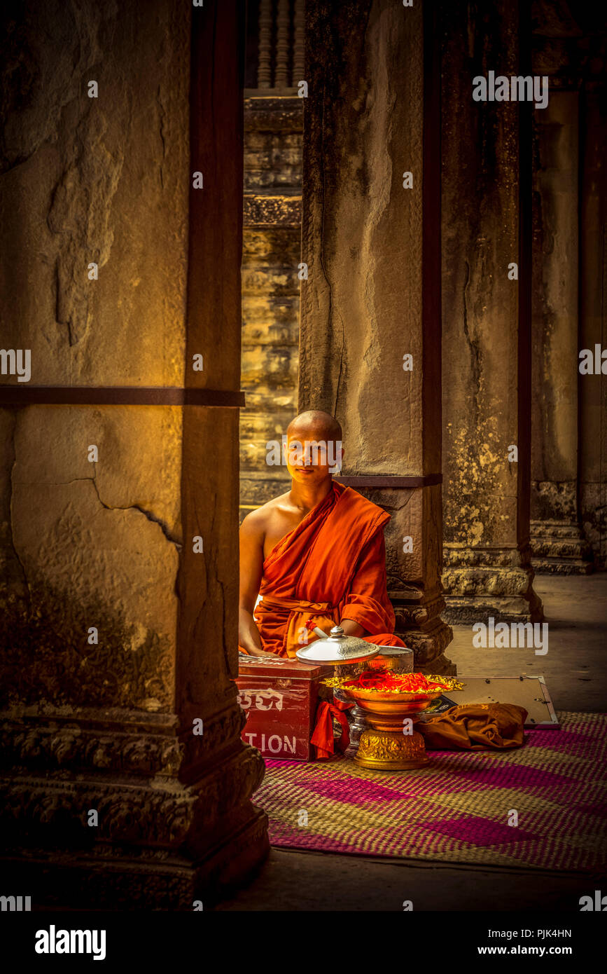 L'Asie, Cambodge, Angkor Wat Photo Stock