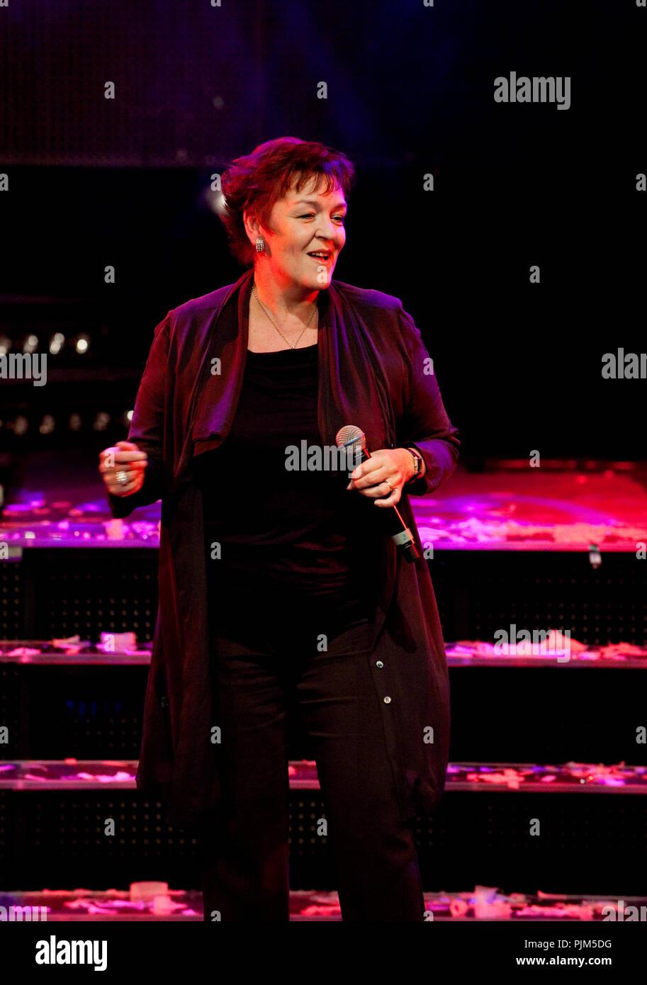 Un extrait de la comédie musicale, n'abandonnent jamais le Cœur à la Vlaamse Musicalprijzen cérémonie (Belgique, 28/09/2010) Photo Stock