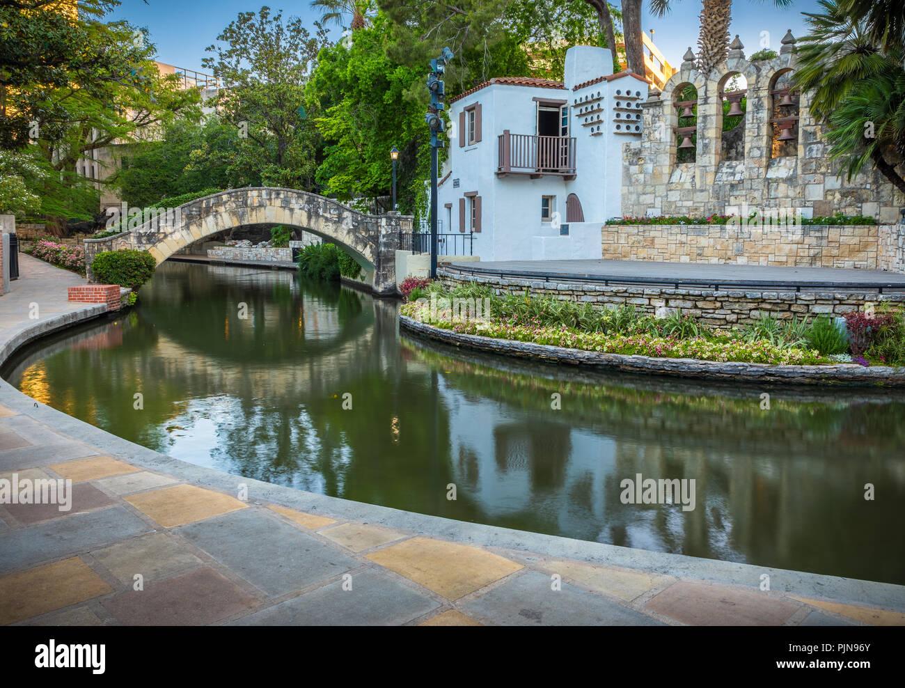La Villita Historic Arts Village est une communauté de l'art dans le centre-ville de San Antonio, Texas, United States. Photo Stock