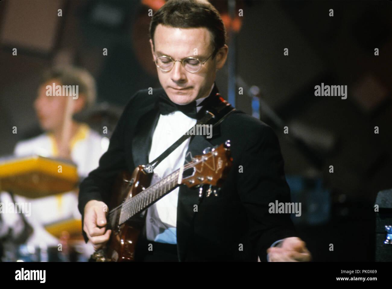 Robert Fripp (King Crimson) sur 01.09.1982. Dans le monde d'utilisation | Photo Stock