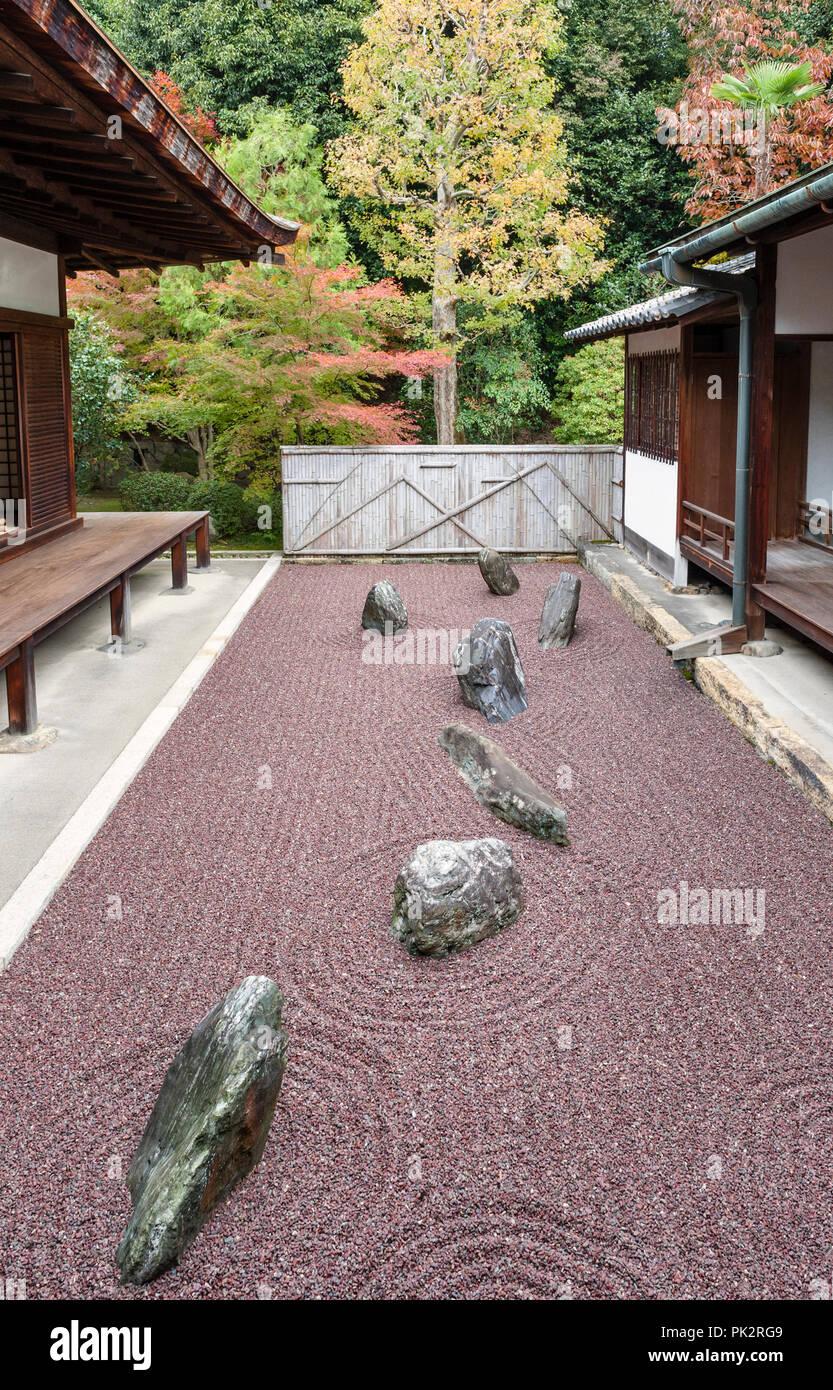 Tofuku-ji, Kyoto, Japon. Le petit jardin du nord de Ryogin-un temple ...