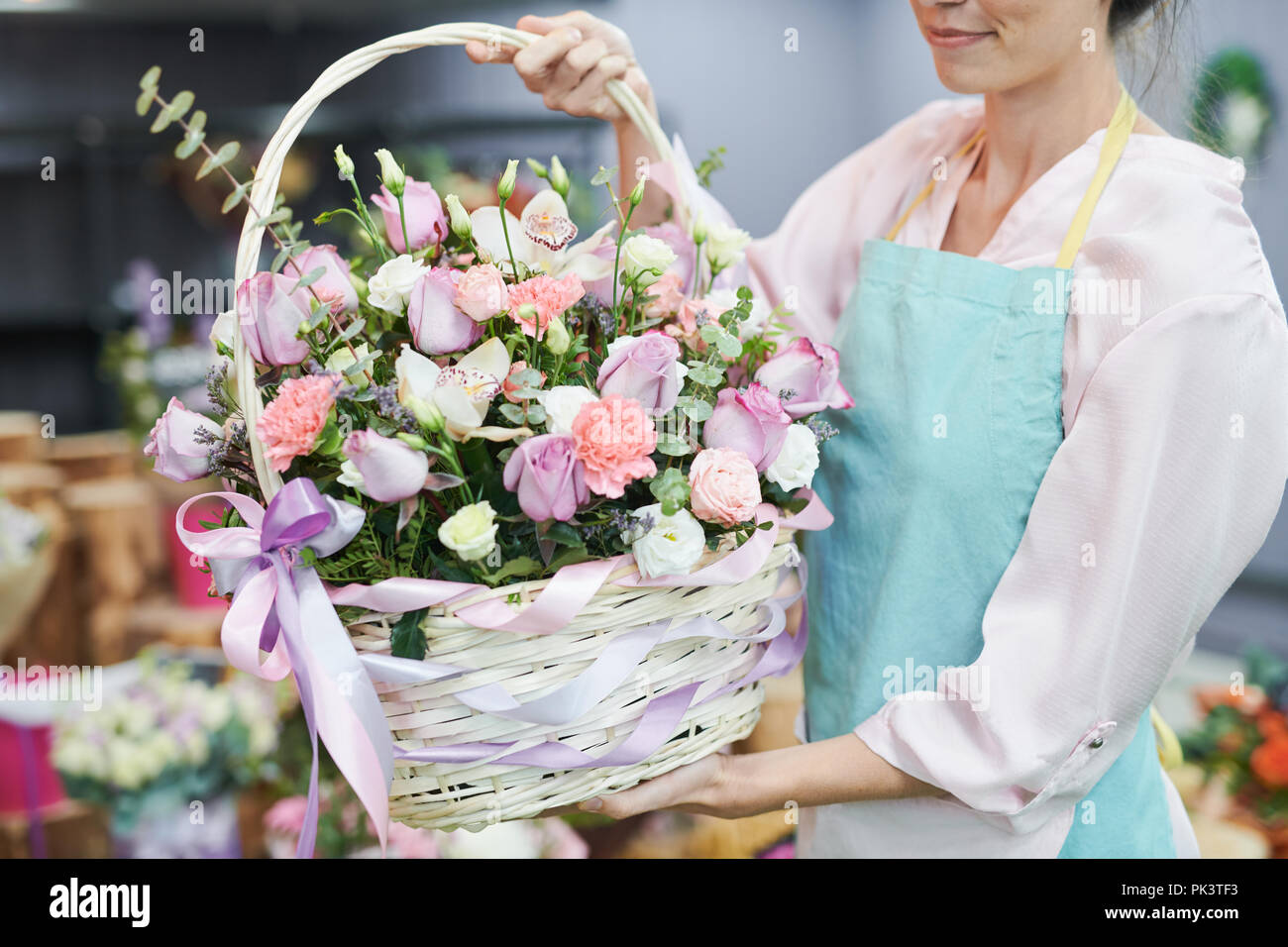 Panier rose Photo Stock
