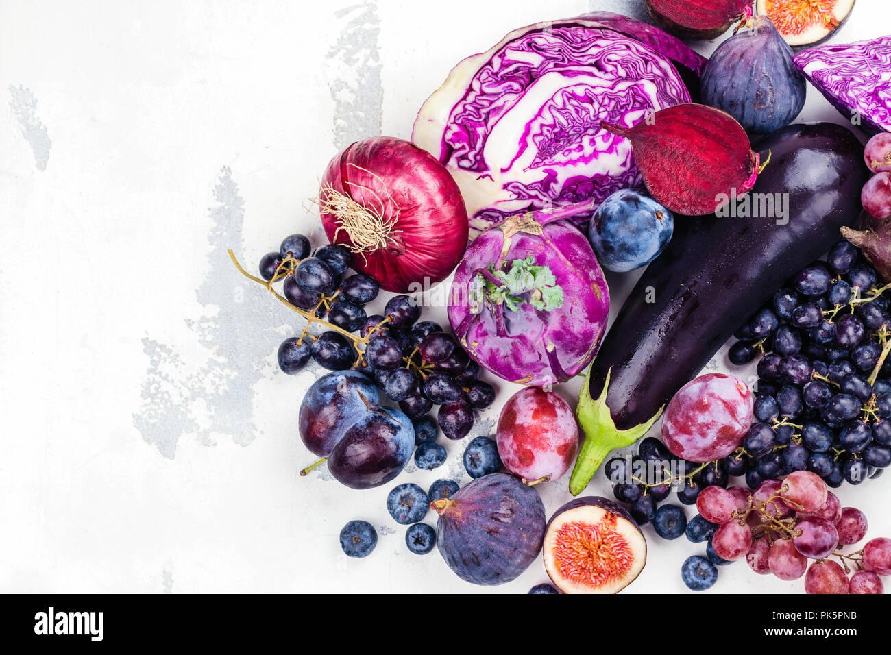 Sélection de pourpre foods Photo Stock