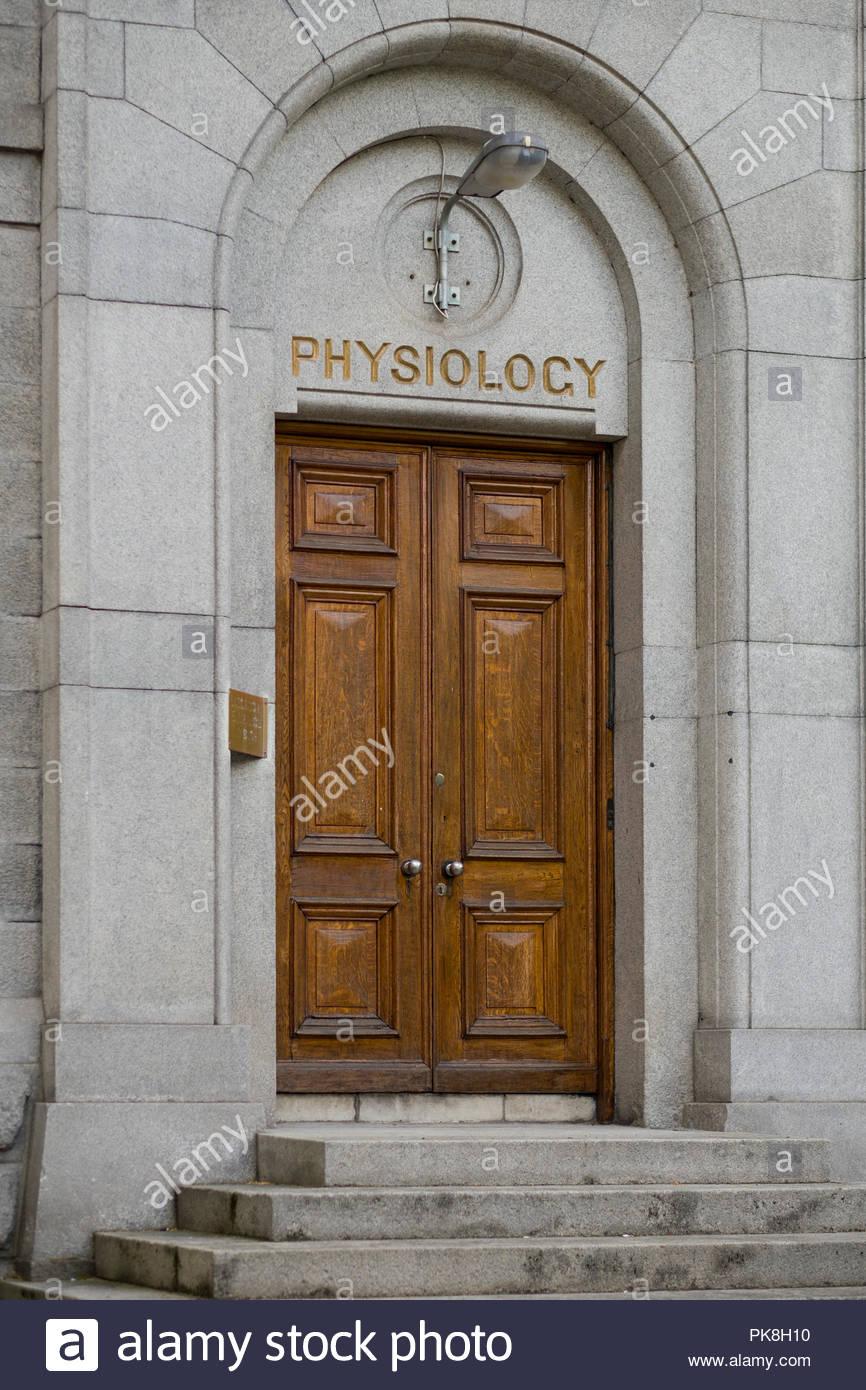 Bâtiment de la physiologie, Trinity College, Dublin, Leinster, Irlande Photo Stock