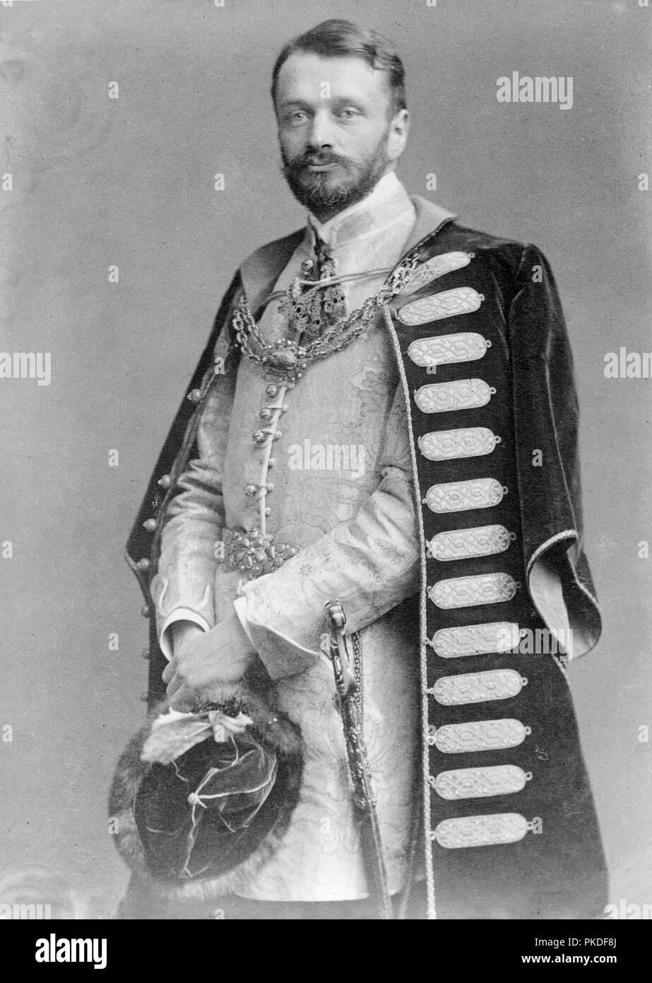 Le jeune Comte Andrássy Gyula (1860-1929) Homme politique hongrois Photo Stock