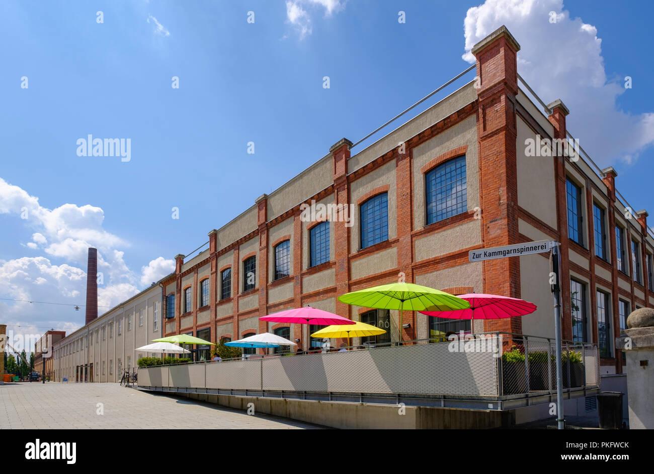 Restaurant nunó, textiles et industriels du textile Museum, trimestre, Augsburg, souabe, Bavière, Allemagne Banque D'Images